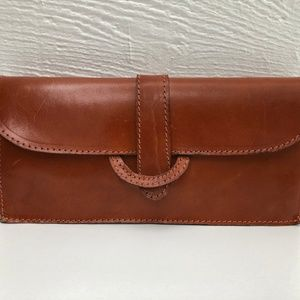 Beautiful vintage Handmade leather clutch wallet